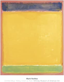 Untitled (Blue, Yellow, Green on Red), 1954 Art Print Art Poster Print by Mark Rothko, 28x36