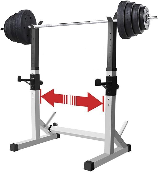 Rastrelliera per bilancieri/rastrelliera per squat, portata max 250 kg, supporti per squat regolabili dfance 119-788-584