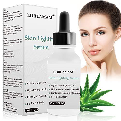 Hyaluronsäure Serum,Hautaufhellendes serum,Bestes Anti-Aging Lift Serum,Dunkler Fleck Entferner für Gesicht,Akne Pickel Falten dünne Linien dunklen Flecken mindert,Faltenreduzierung