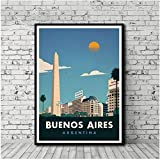 VGSD® Vintage Reiseplakat Buenos Aires Poster Malerei