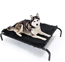 SONGWAY Pet Bed, Portable Raised Pet Cot, Waterproof Breathable Mat, Elevated Dog Bed with Mattress, Cooling Dog Beds for ...