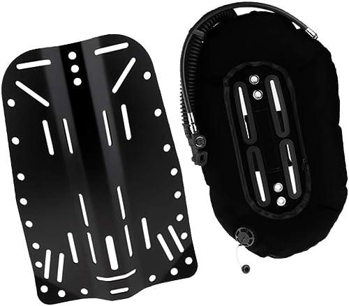 Fenteer Système de Harnais Plongeur Alliage + 30 lbs Compensateur de Flottabilité BCD Réservoir de Plongeur Donut Wing Simple