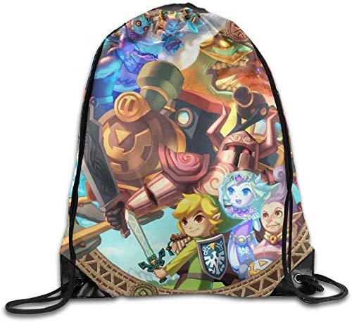asegy The Legend of Zelda Spirit Tracks Drawstring Backpack Sack Bag/Travel Bag