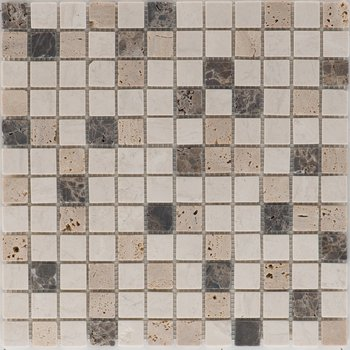 Mosaik Fliese 30x30 cm EUST KRONOS Multicolor Tumbled je Stück