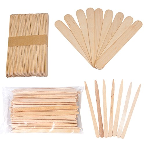 JMT Beauty Assorted Wax Applicators, 200 Extra Small and 200 Large Spatulas