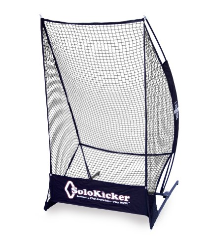 Bownet 7'4' x 4' Portable Solo Kicker Punting and Kicking Practice Net, Black