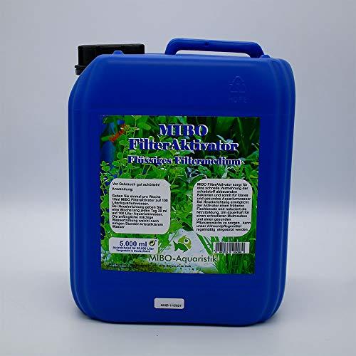 MIBO Filteraktivator 5000 ml Kanister ausreichend für 50.000 L Wasser! Jetzt NEU! Jetzt für Kristallklares Wasser Sorgen!