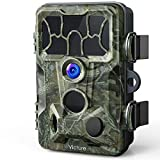 Victure Wildkamera Fotofalle 130° Weitwinkel 20MP 1080P Low-Glow Infrarot-LEDs mit bewegungsmelder Nachtsicht Wasserdicht Jagdkamera 0.4s Auslösezeit für Jagd, Überwachung von Eigentum und Tieren