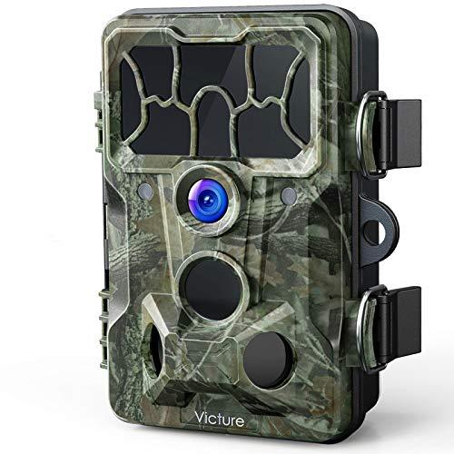 Victure Wildkamera Fotofalle 1080P Full HD 20MP 130°Weitwinkel Vision Infrarote Nachtsicht wasserdichte IP66 Überwachungskamera für Haussicherheitsüberwachung und Outdoor