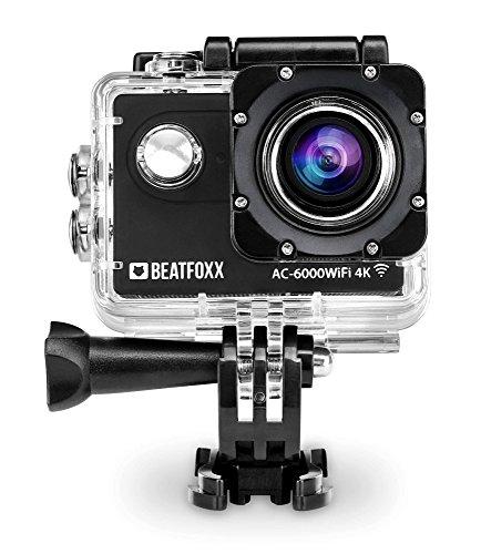 Beatfoxx AC-6000WiFi 4k Full HD Action Kamera (Video: 4096 x 2160p bei 25 fps, Unterwassergehäuse, 170° Weitwinkel Objektiv, integrierte WiFI Schnittstelle, Fernbedienung, umfangreiches Halterungsset)