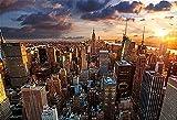 5D Diy Diamond Painting New York City Architecture Mosaico de diamantes Cuadrado completo Diamante redondo Diamante Bordado Punto de cruz -40x50cm