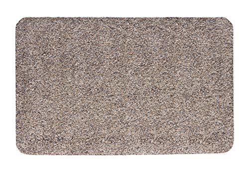 andiamo Schmutzfangmatte Samson waschbare Fußmatte für den Innenbereich, 50 x 80 cm granit