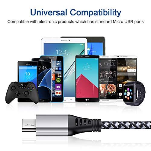 Micro USB Ladekabel, AILKIN [3 Pack 1.8M] Micro USB Kabel Nylon Android Handy Datenkabel für Samsung Galaxy S7/S6/S4/J7/J5/J3/Note 5, Huawei, LG, Sony, Xiaomi, HTC, Motorola, PS4 usw