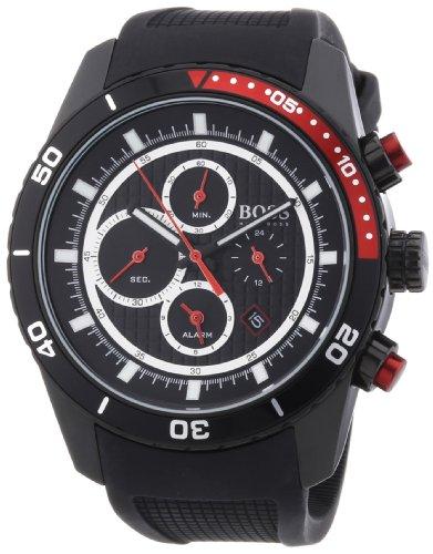 Hugo Boss 1512661 - Reloj analógico de Cuarzo para Hombre con Correa de Silicona, Color Negro