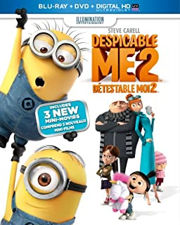 Despicable Me 2 [Blu-ray + DVD + UltraViolet Copy] (Bilingual) (B00A7BHO7E) | Amazon price tracker / tracking, Amazon price history charts, Amazon price watches, Amazon price drop alerts