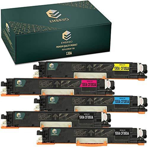 EMBRIIO 5X 130A CF350A-CF353A Cartucho Tóner Reemplazo para HP Color Laserjet Pro MFP M176n MFP M177fw