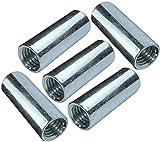 AERZETIX - Set di 5 dadi manicotti di accoppiamento M12x40x15mm filettato - manicotto prolunga cilindrico tondo - in acciaio zincato - C49636