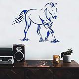Divertente Zebra Vinile autoadesivo Impermeabile Adesivo da parete per camerette Decorazioni per la casa Adesivi murali GRIGIO M 28 cm X 33 cm
