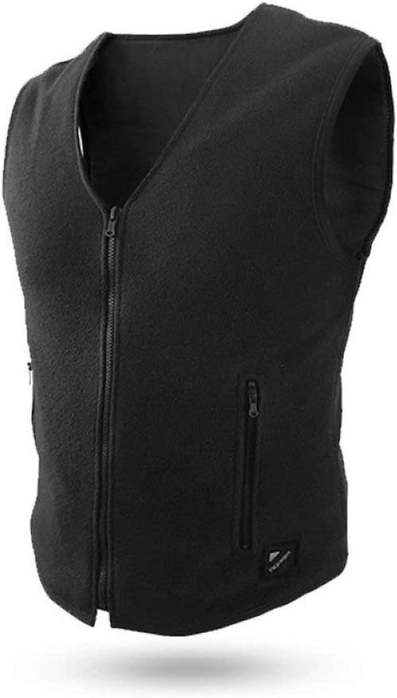 DZX Elektrische Warme Kleidung Heizung Weste,Smartphone Control - Für Outdoor-Reisen Camping Bike Skifahren (Unisex Schwarz),Men-XL