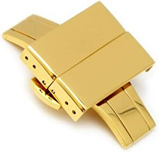 Cinturino con fibbia/fibbia di distribuzione 20mm, 22mm, 24mm, acciaio inossidabile oro IP con pulsante di rilascio