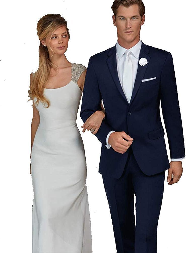 Ike Behar Men's Navy Suit