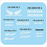 Set Adesivi Hornet Compatibili Tagliati Singolarmente Stickers Kit Decalcomanie Personalizza Colore Moto Controlla Misure
