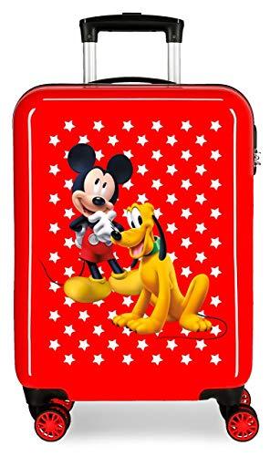 Disney Mickey & Pluto Stars Maleta de Cabina Infantil Roja 55x38x20 cm...