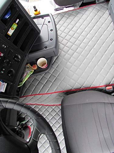 Color Negro y Gris Transporter T5 T6 despu/és de 2004 conducci/ón a la Izquierda o Derecha 1 Individual, 1 Doble Texmar Fundas de Asiento de Piel ecol/ógica 2+1