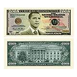 バラックオバマ大統領パロディ紙幣2枚セット(大統領選挙記念2008ドル紙幣& Yes We Can 100万ドル紙幣)