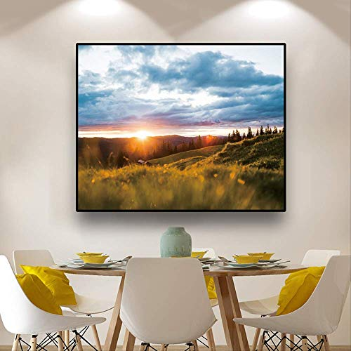 Nordic Landschap Wall Art Canvas Schilderij Landschap Posters en Prints Decor Muur Foto voor Woonkamer Modern Home Decoration 30x24cm No Framed
