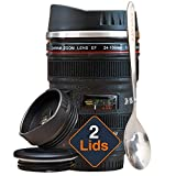 STRATA CUPS Camera Lens Coffee Mug -13.5oz, SUPER...