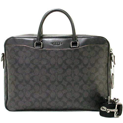 Coach Women's F72984 Beckett Slim Briefcase in Signature Canvas, Black/Oxblood