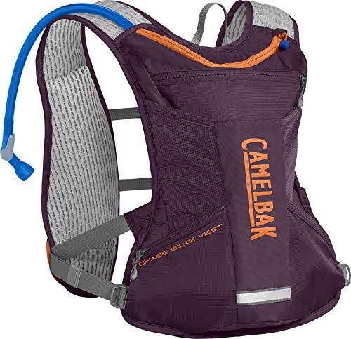 CamelBak Women's Chase Bike Hydration Vest 50 oz, Italian Plum/Laser Orange