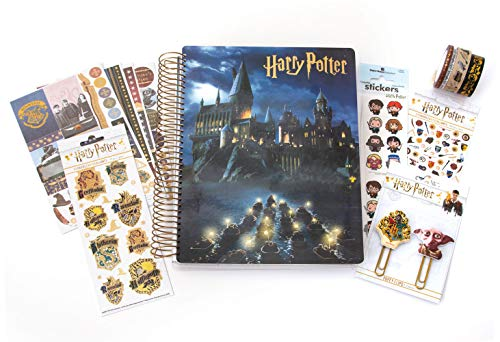 Paper House Productions Harry Potter Hogwarts Accessory Bundle, Stickers, Washi Tape, Planner Clips