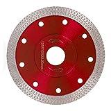 Disco de Diamante Hoja de Diamante 115/125 Profesional Corte en Seco Porcelánico Granito Cerámica Cuarcita Mármol (125mm, Rojo)