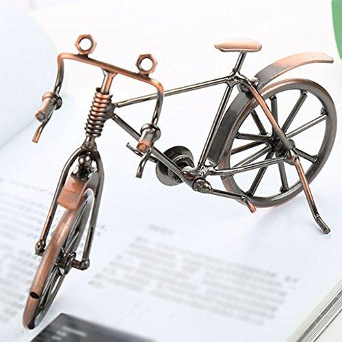 Decoración Hogareña Modelo De Bicicleta Gewelry Casquillo De Bala Tecnología Area Escenica Turismo Recuerdo Tamaño (Largo 17Cm * Ancho 10Cm * Alto 10Cm)