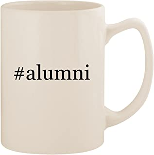 #alumni - White Hashtag 14oz Ceramic Statesman Coffee Mug Cup