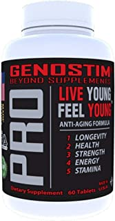 Genostim Pro, Anti-Aging Protein Peptide Supplement -150mg of Isotides Stimulates Hormonal Balance for Accelerated Healing...