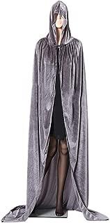JMSUN Halloween Cloak Christmas Costume COS Death Long Cloak Sorcerer Witch Prince Princess Cape Cloak Gray