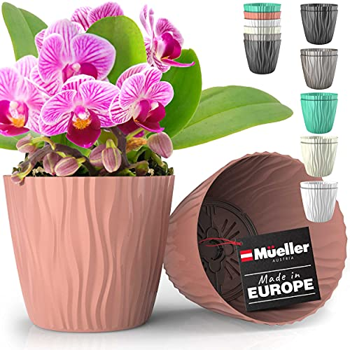 Mueller Plant and Flower Pot 2/1 Set, Heavy Duty 6 Inch European Made Stylish...