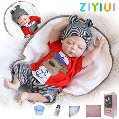 ZIYIUI 20 Pouces 50 cm réaliste bébé Complet du Corps en Vinyle Vinyle Reborn bébé poupées réaliste Newborn Dormir bébé garçon poupées