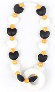 Nummy Beads Black Hearts Teether Toy Attaches to Baby Carrier, Car Seat, High Chair, Stroller or Diaper Bag