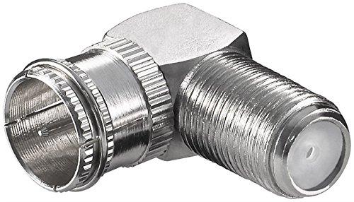 PremiumCord Adapter F Schnellstecker auf F Schraubbuchse, F-Stecker, 90 ° gebogen
