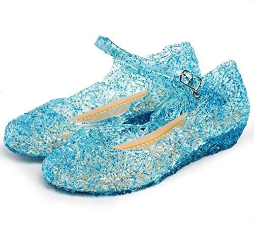 Katara ES10 Mädchen Frozen Eiskönigin Prinzessin ELSA, Cinderella Schuhe, Blau, 29 EU (CN 31)