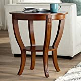 Patterson II Americana 26' Wide Cherry Wood Round End Table - Elm Lane