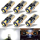 Upgraded 194 LED Car Bulb 168 T10 LED 24V 12V, 3SMD 3030 Chip, 200% Brighter Than Stock LED, 2825 175 W5W LED T10 Bulbs for Map Door Dome Compartment Trunk License Plate Lights 6000k white(6Pcs)