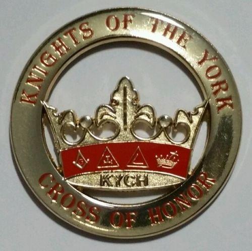 Mason Square Market Freemason Knights of the York Cross of Honour (KYCH) Car Emblem