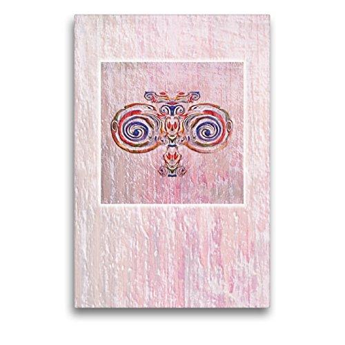 """Premium Textil-Leinwand 50 x 75 cm Hoch-Format Ornament\"""" Jugendstil\""""   Wandbild, HD-Bild auf Keilrahmen, Fertigbild auf hochwertigem Vlies, Leinwanddruck von Claudia Gründler"""
