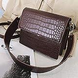 nbn Bolso de lujo de diseñador para mujer Bolsos de cuero de PU de alta calidad Bolso de hombro de cocodrilo, marrón