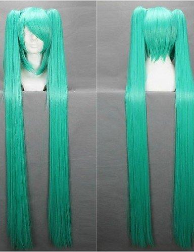 xzl Pelucas de la manera largas pelucas luz 120cm pelucas blue anime cosplay rectas Hatsune Miku